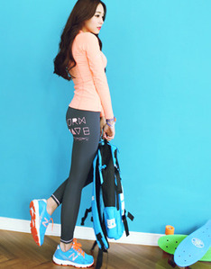 BURN WAVE Water Leggings - Sweet Gray